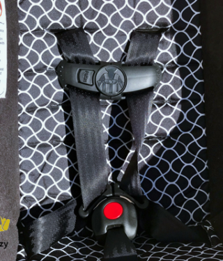 Twisted car seat straps